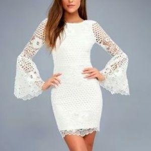 """Lulu's """"Angelisa"""" White Lace Dress"""